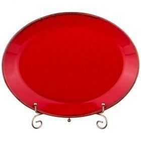Тарелка seasons 30*23,5 см овальная цвет красный (кор=12шт.)-664-190