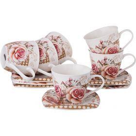 Чайный набор на 6 персон 12пр. 220 мл.-165-396