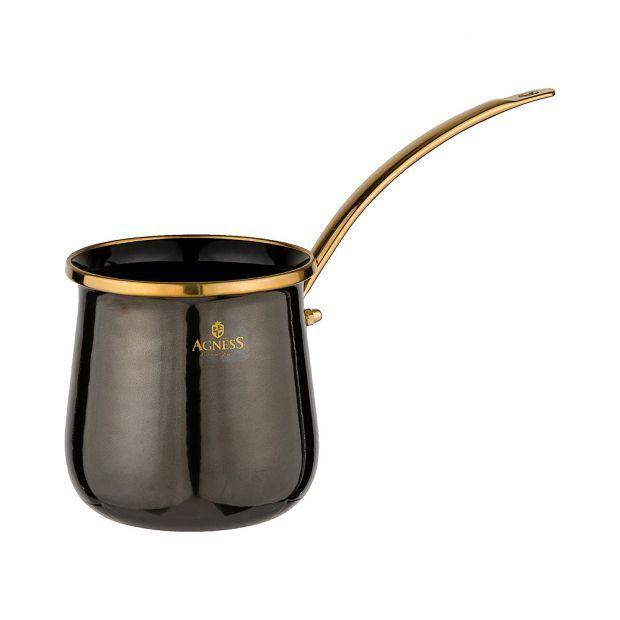 Турка agness эмалированная, 0,35л подходит для индукцион.плит-950-255