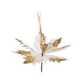 Цветок искусственный пуансетия диаметр=25см на клипсе