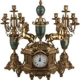Набор:часы+2 подсвечника  циферблата=10 см.