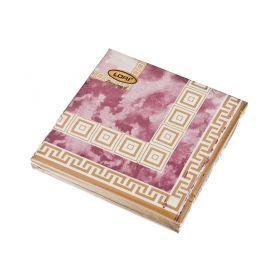 Салфетки бумажные 3-х слойные 20 шт. 33*33 см. лори триумф