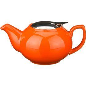 Заварочный чайник с металлической крышкой 600 мл.-470-015