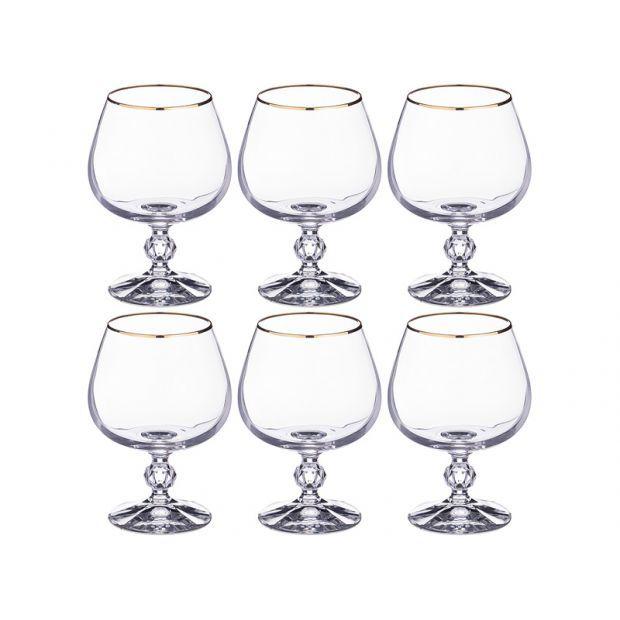 """Набор бокалов для коньяка из 6 шт. """"клаудия"""" 250 мл. высота=12 см.-669-213"""