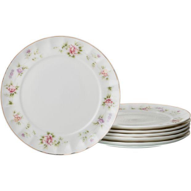 """Набор десертных тарелок """"екатерина"""" из 6 шт. диаметр=20 см.-54-364"""