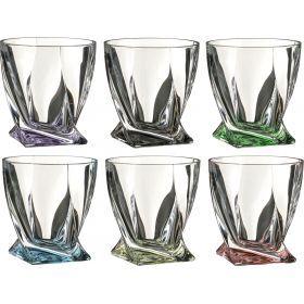 Набор стаканов для виски из 6 шт. квадро декорейшн 72т76 340 мл. высота=10 см.