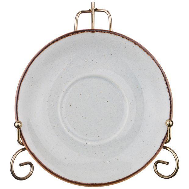 Блюдце для чашки seasons 16 см цвет серый (кор=24шт.)-664-110