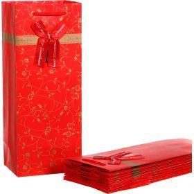 Комплект бумажных пакетов из 10 шт. 15*12*36 см.-521-071