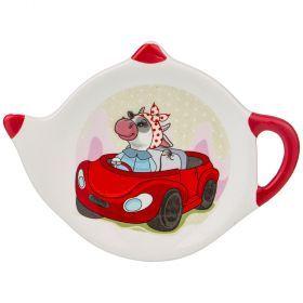 Подставка под чайные пакетики 12*8,5*1,5 см. (кор=144шт.)-358-1628