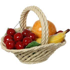 Изделие декоративное корзина с фруктами 20*16 см высота=16 см.