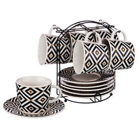 Чайный набор на 6 персон 12 пр. на подставке коллекция