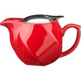 Заварочный чайник 500 мл. красный (кор=24шт.)-470-180