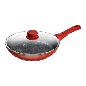 Сковорода с крышкой, антипригар.покрытием и съемной ручкой, 24см. без упаковки-918-177