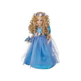 Фарфоровая кукла с мягконабивным туловищем высота=40 см.-485-226