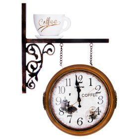 Часы настенные кварцевые с двойным циферблатом 43*12*58 см (кор=6шт.)-204-235