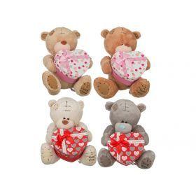 Игрушка медвежонок с сюрпризом высота=20 см.18*15 см.+подарочная коробка 4 вида (кор