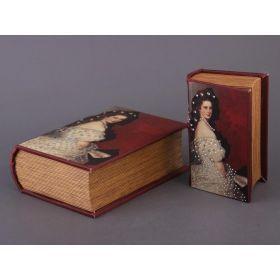 Комплект из 2-х шкатулок-книг 22*16*7 / 17*11*5 см-184-096