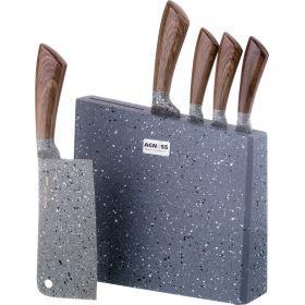 Набор ножей на деревянной подставке, 6пр.-911-605