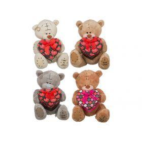 Игрушка медвежонок тэди с сюрпризом высота=43 см.+подарочная коробка 4 вида (кор=24