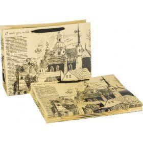 Комплект бумажных пакетов из 10 шт. 60*40*23 см.-521-096