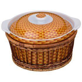 Блюдо с крышкой 1500 мл.диаметр=20 см.высота=12 см.-792-004
