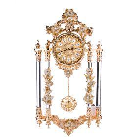 Часы настенные цвет бежевый 90*48*18см. диаметр циферблата=19см.-308-220