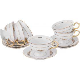 Чайный набор на 6 персон 12пр. 220 мл.-779-220