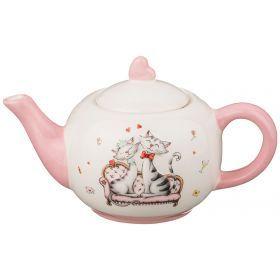 Заварочный чайник розовый