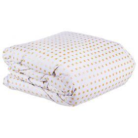 Одеяло афродита 140 *205 см, верх: тик-100% хлопок, наполнитель:100% пух , белый в ассортименте