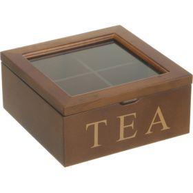 Шкатулка для чая 18*18*9 см.-255-022