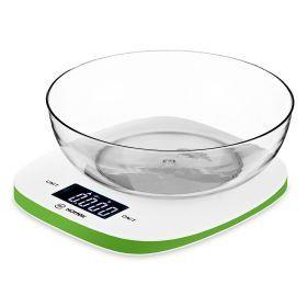 Весы кухонные с чашей ht-962-005, пластик 8*19*19 см. макс. вес=5 кг-962-005