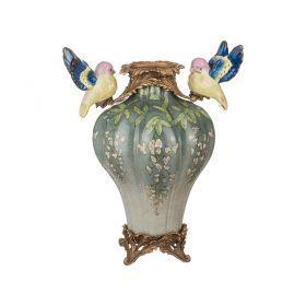 Декоративная ваза диаметр=19 см. высота=31 см.-469-245