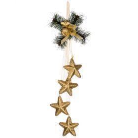 Декоративное изделие подвеска со звездами 32 см без упаковки (кор=96 шт.)-161-180