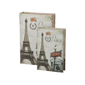 Комплект шкатулок-книг из 2 шт.33*22*7/26*17*5 см.