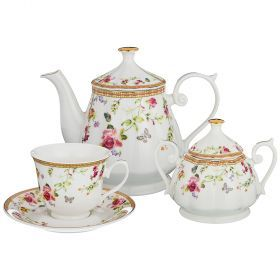 Чайный сервиз на 6 персон 14пр. 700/220/280мл (кор=4наб.)-165-482