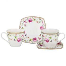 Чайный набор на 2 персоны 4пр. 220мл (кор=24наб.)-165-444