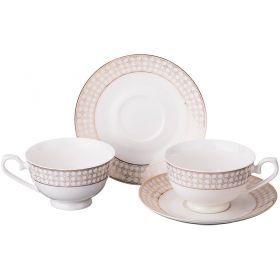 Чайный набор на 2 персоны 4 пр.230 мл.-115-266