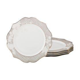 Набор из 6-ти десертных тарелок диаметр=20 см (кор=10набор.)-115-323