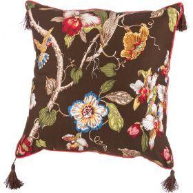 Подушка декоративная 45*45 см, парадиз х/б 100%,коричневый