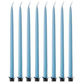 Набор свечей из 8 шт. 23/1 см. лакированный голубой-348-629