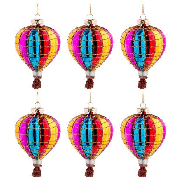 """Набор из 6-ти декоративных изделий """"воздушный шар"""" 7*11 см-864-115"""