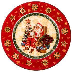 "Тарелка ""christmas collection"" диаметр=21 см. высота=1,6 см.-586-318"