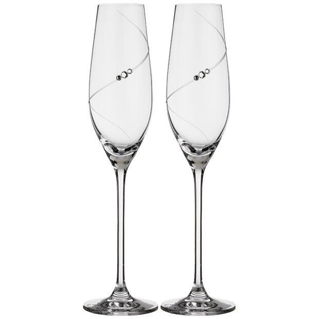 """Набор бокалов для шампанского из 2 штук """"силуэт"""" 220 мл-681-101"""