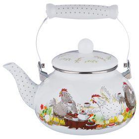 Чайник эмалированный agness , 2,5л-934-376
