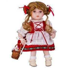 Кукла фарфоровая высота=30 см.-346-241
