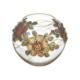 Ваза декоративная сиреневый цветок лепка высота=15 см.