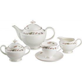 Чайный сервиз на 6 персон 15 пр.английский сад 1200/250 мл.