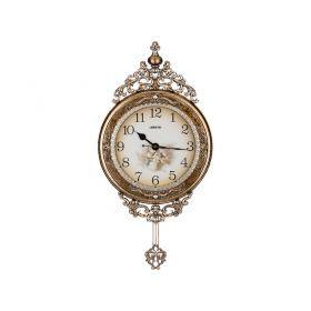 Часы настенные кварцевые с маятником 38*6,5*75 см. диаметр циферблата=26 см.