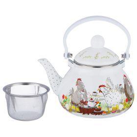 Чайник эмалированный agness  с фильтром из нжс, 1,3л-934-375