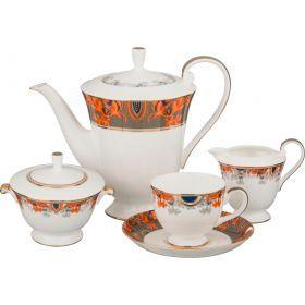Чайный сервиз на 6 персон 15 пр. 1300/250 мл.-22-1076